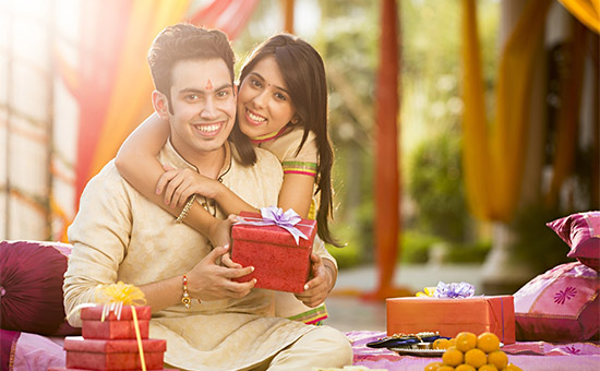 Brother Giving Gift to Sister on Bhai Dooj