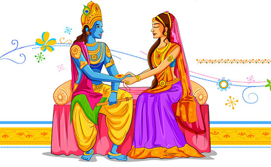 Krishna and Subhadra