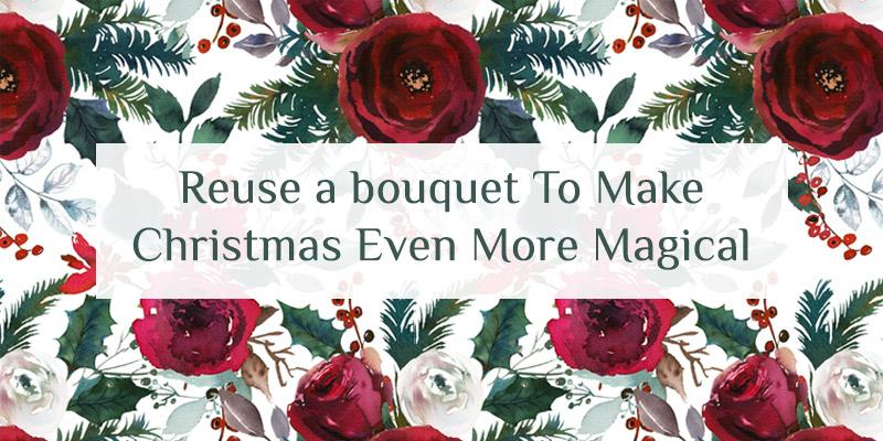 Christmas floral bouquet arrangement to make it more magical