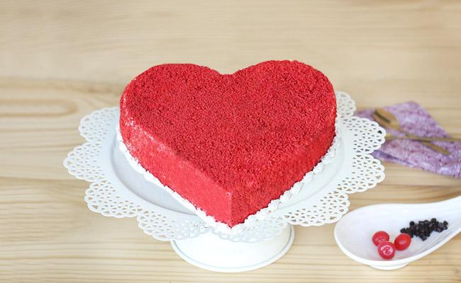 Heart-shaped Love Cake