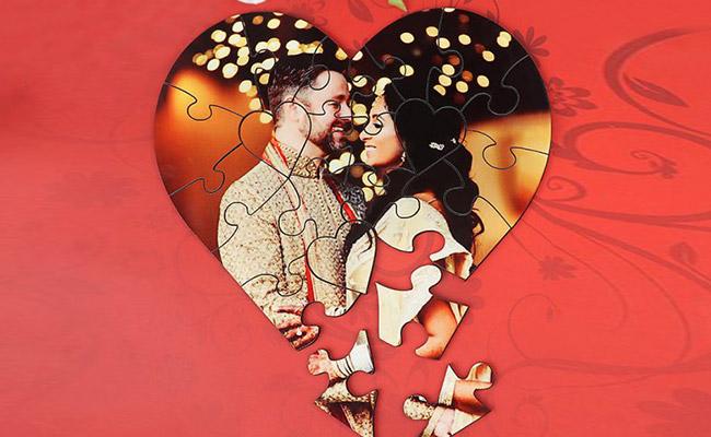 Glittery Heart Block Puzzle