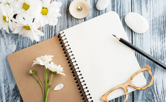 Flower and Personalise Diary for Your Sweetheart on Her First Day of Job