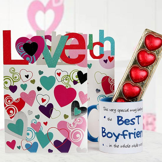 My Adorable Boyfriend - Combo of handmade chocolates with a coffee mug and a greeting card