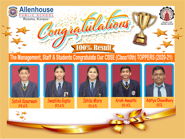 Class 10 Board Result of the academic year 2020-2021