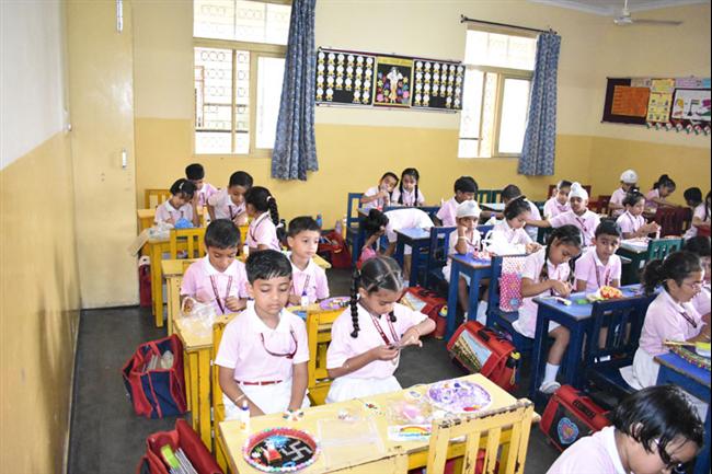 RAKHI MAKING COMPETITION OF CLASS I-III