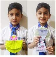 Mother's Day Card Making Activity Class-II