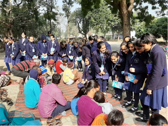 VISIT TO LEPERS COLONY BY CLASS 5A