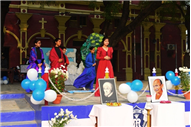 MARY WARD WEEK CELEBRATED AT ST. MARY'S CONVENT INTER COLLEGE, PRAYAGRAJ, LONG ASSEMBLY BY CLASS 8-F