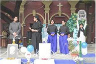 MARY WARD DEATH  ANNIVERSARY AT ST. MARY'S CONVENT INTER COLLEGE, PRAYAGRAJ, LONG ASSEMBLY BY CLASS 8-F