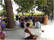 Visit to Leper's Colony by Class 11