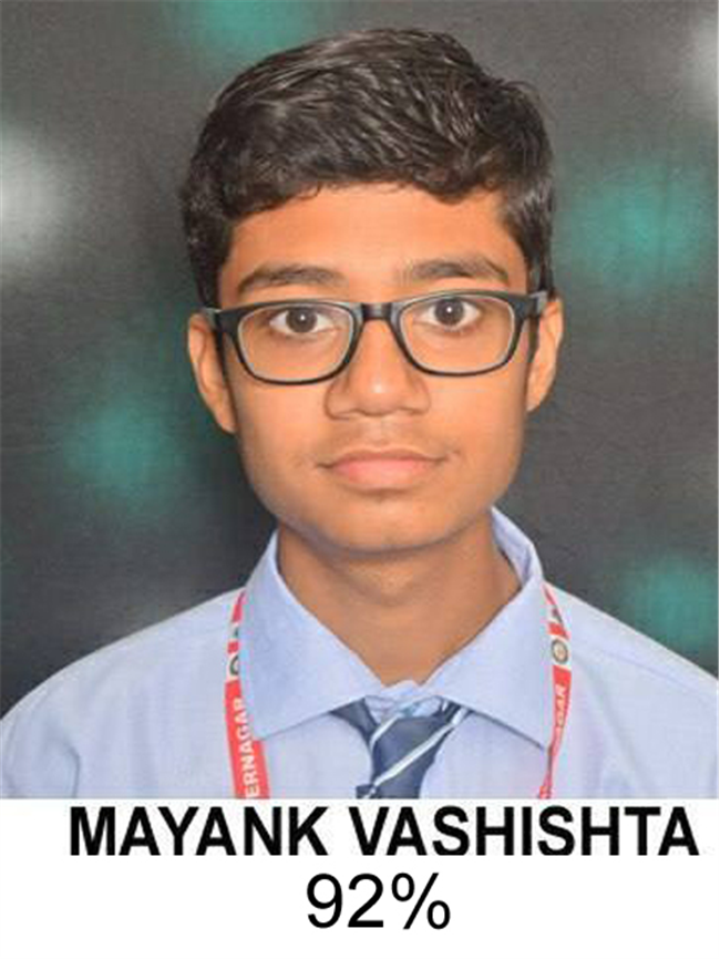 Toppers of Class 10th Session 2019-20