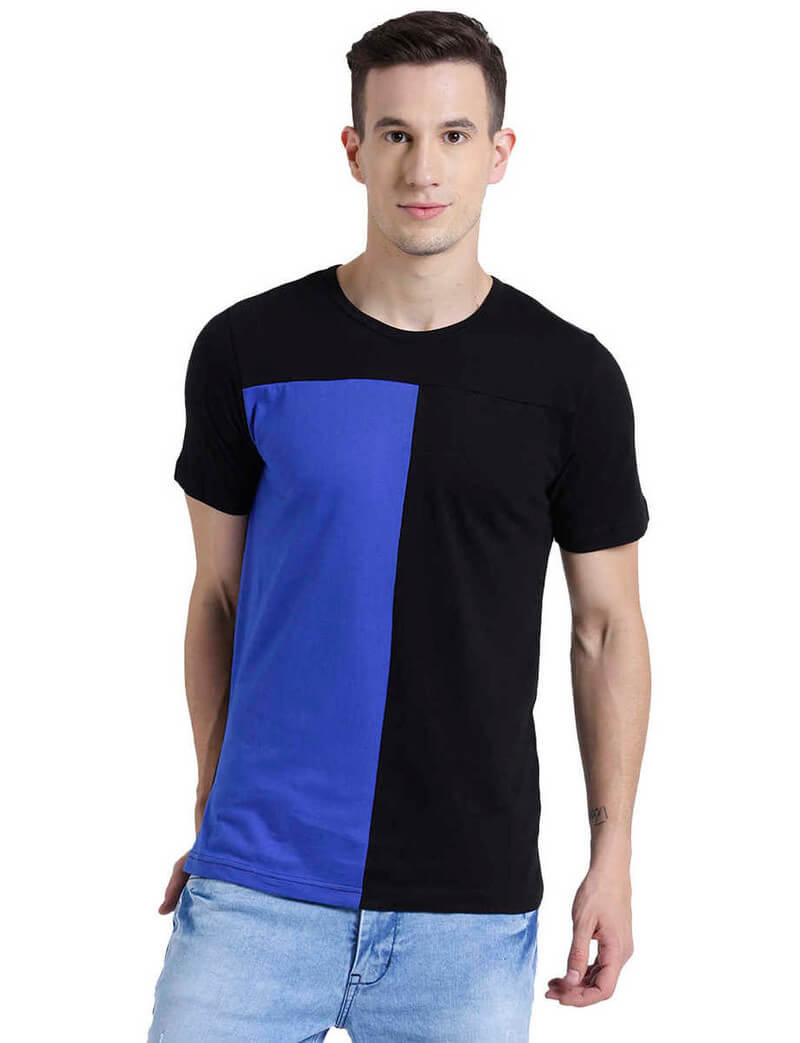 Cotton Solid Men T-Shirt (Size 38)