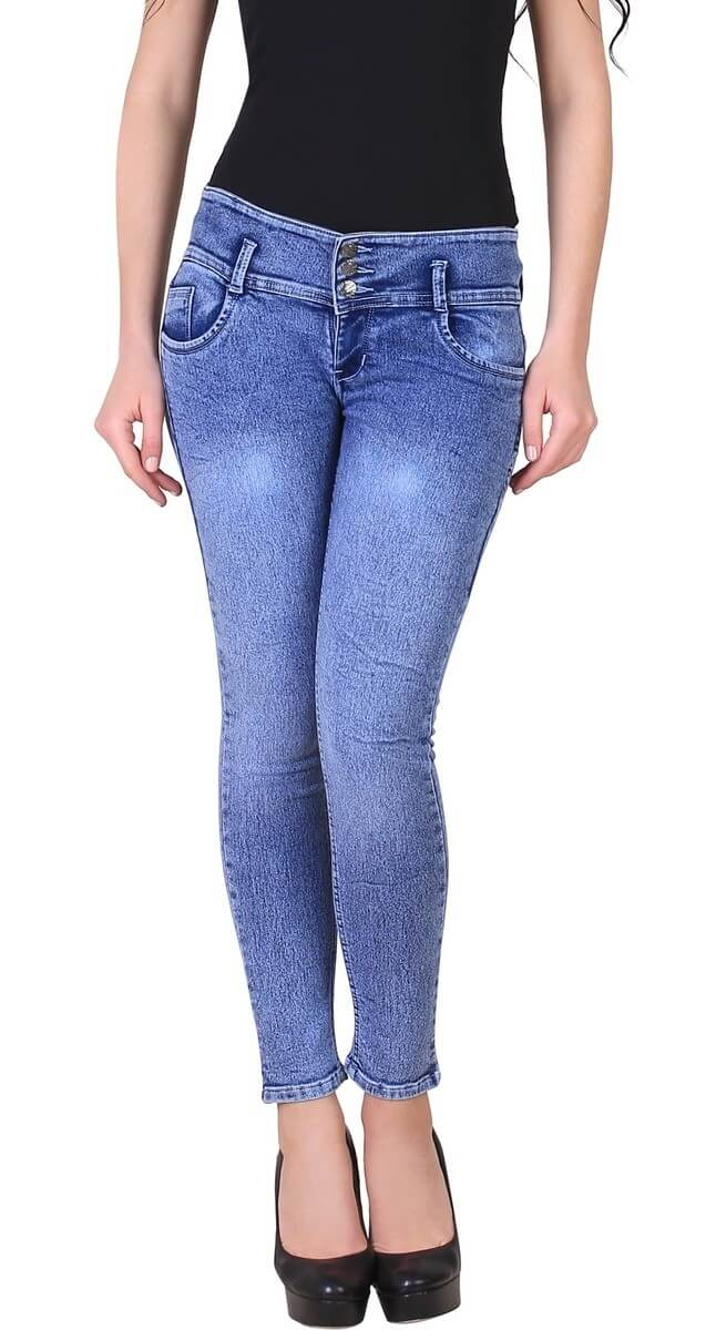 Shaded Slim Fit Women Jeans