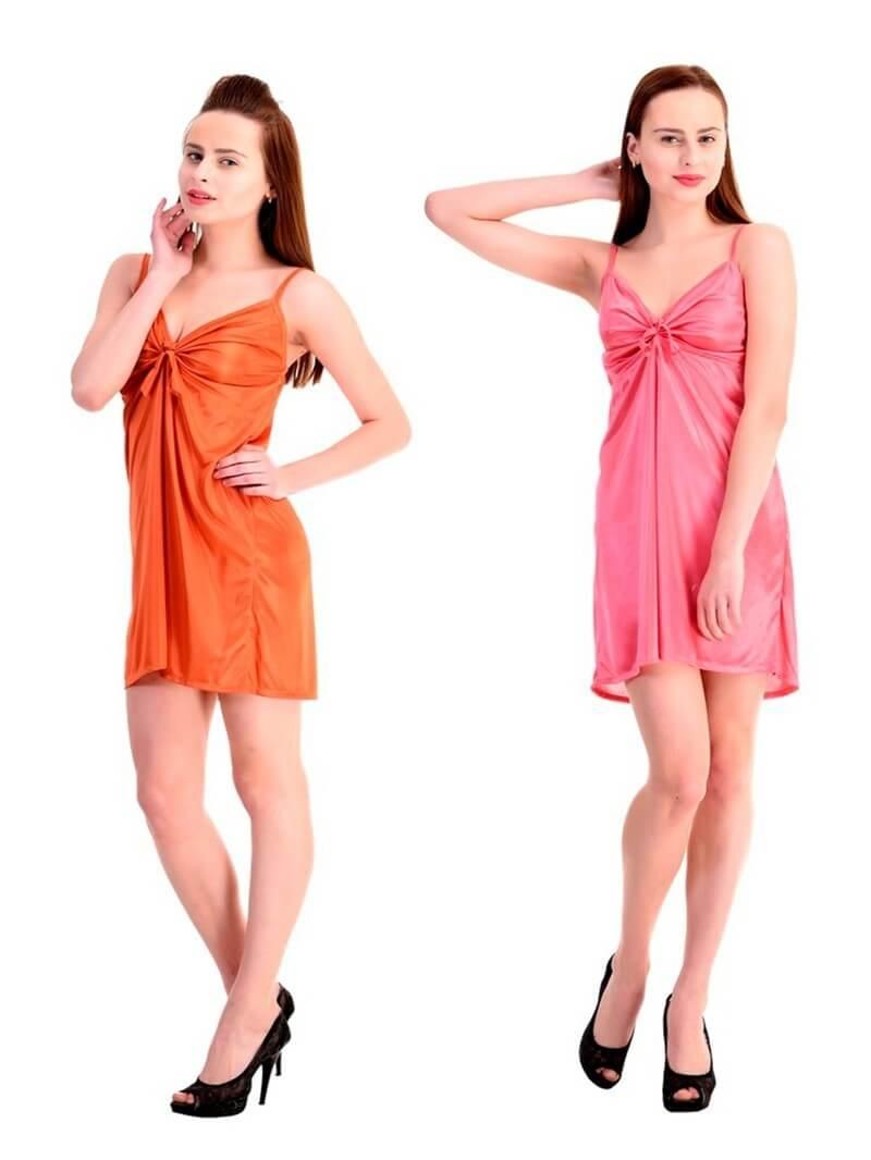 Satin Women Combo Pack 2 Sleepwear