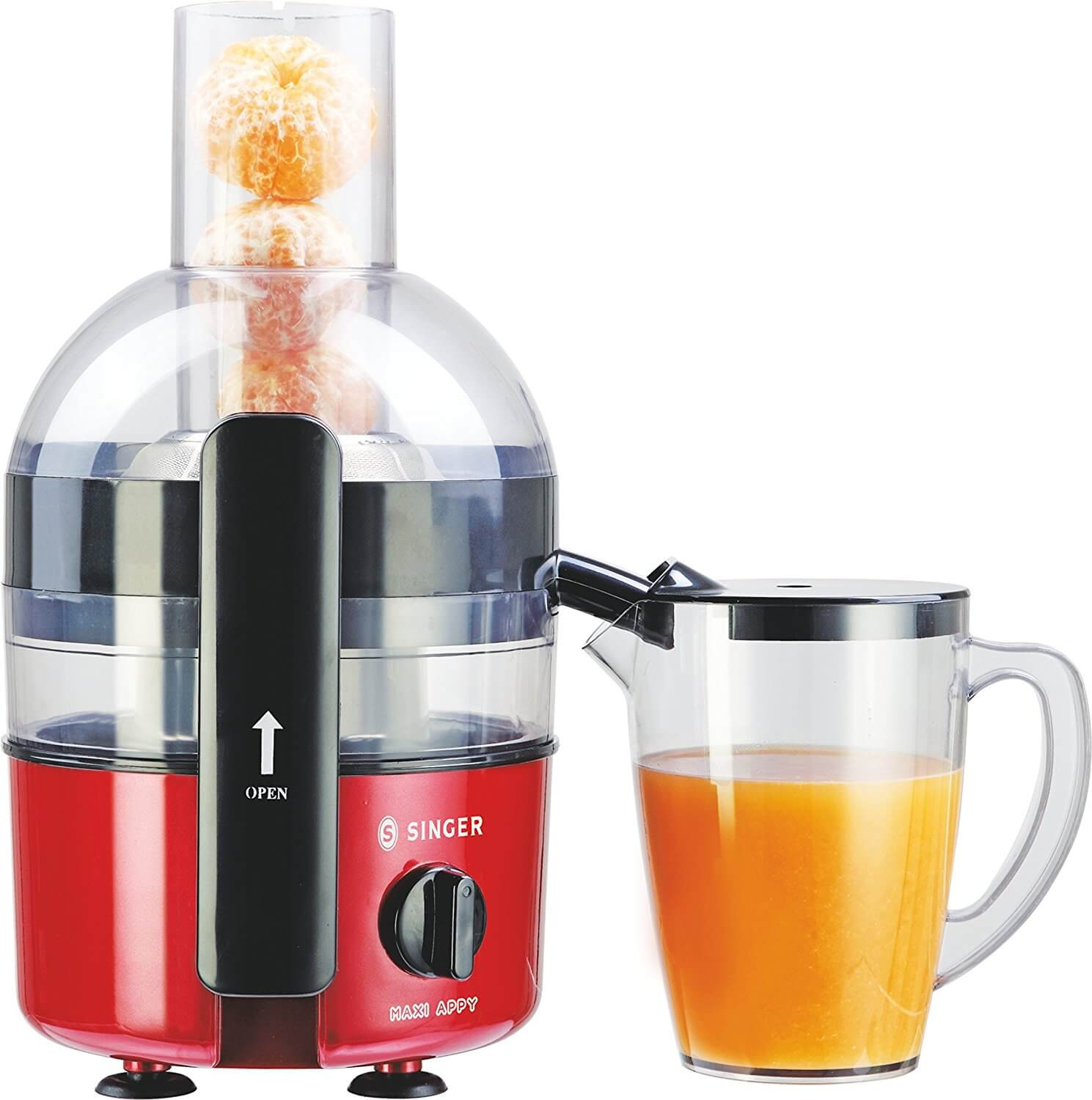 Singer Maxi Appy 700 Watts 2 Litre Juicer (Red/Black)