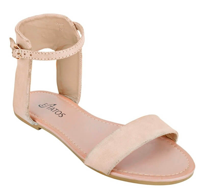 Estatos Brand Leather Pu Women Sandal