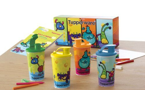 Tupperware A Willy & Friends Tumbler (Set of 4) 350ml with activity book FREE