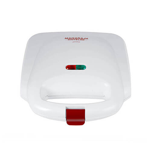 Maharaja Whiteline Primo 750-Watt Sandwich Maker Red and White
