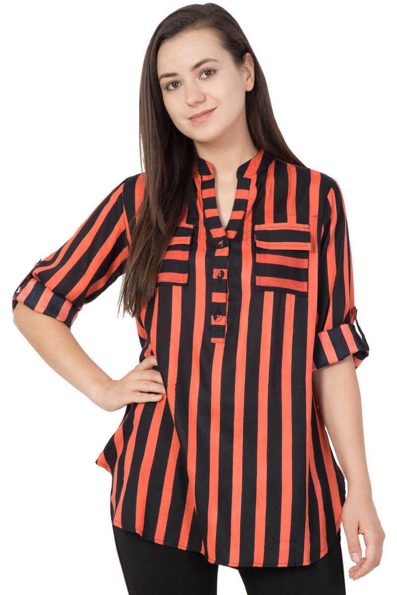 Akshara Creations Rayon Stripes Top
