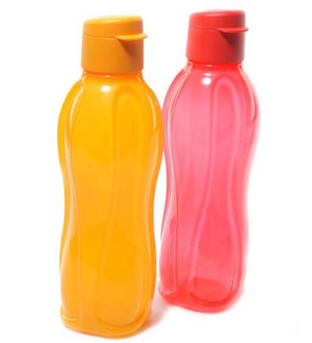 Tupperware FlipTop Aquasafe 1000 ml Water Bottles(Set of 2, Multicolor)
