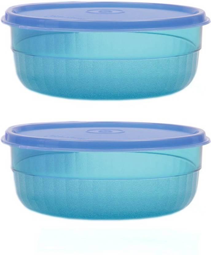 Tupperware - 400 ml Plastic Food Storage  (Pack of 2, Blue)