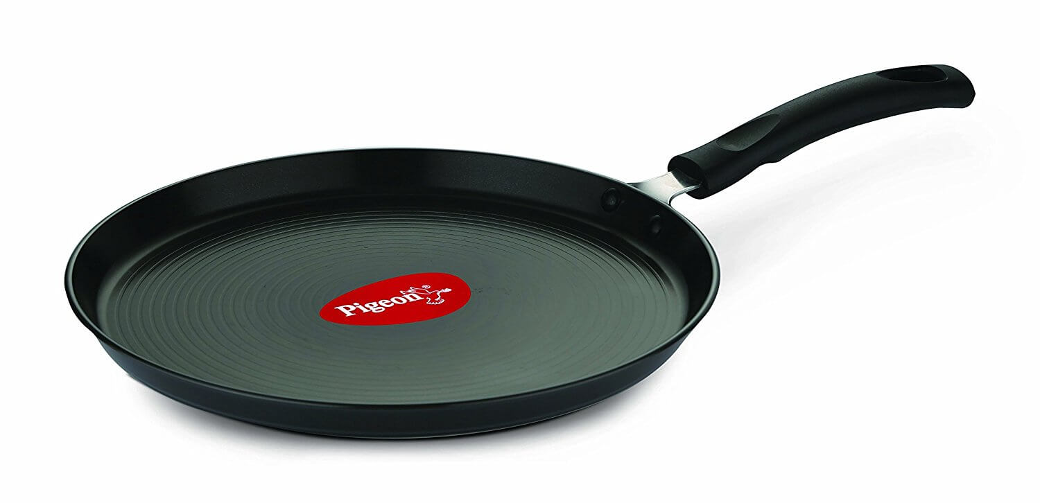 Pigeon Titanium Hard Anodised Aluminium Tawa, 250mm, Black