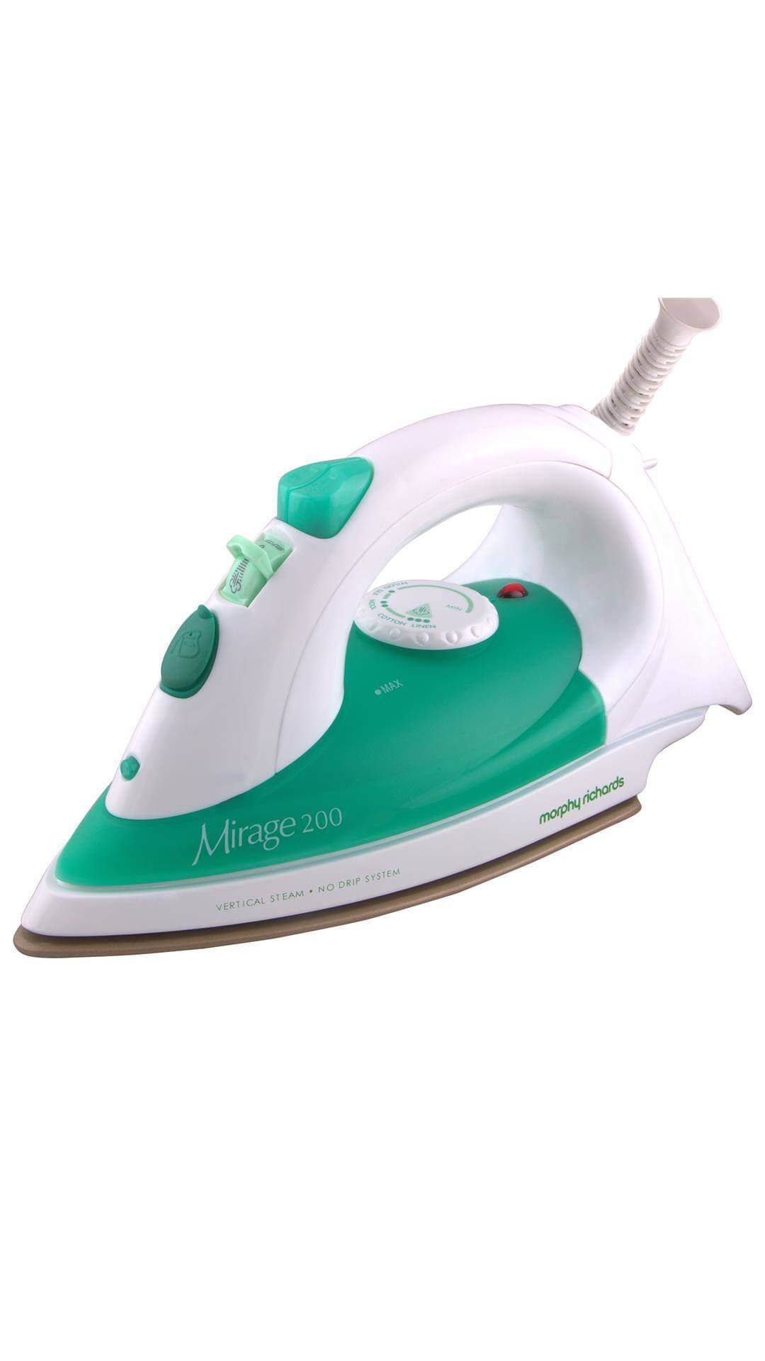 Morphy Richards Mirage 200 1320 W Steam Iron (White & Green)