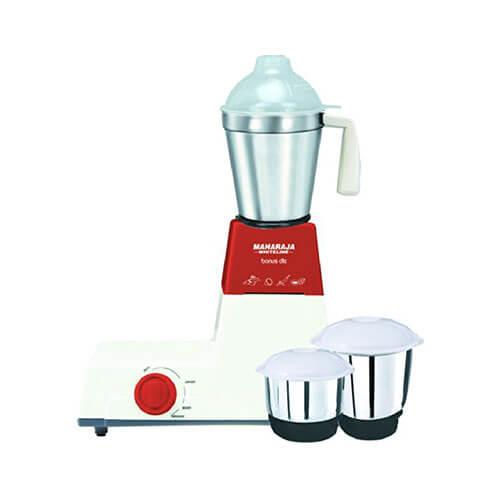 Maharaja Whiteline Bonus DLX HappinessDLX 500-Watt Mixer Grinder Red and White