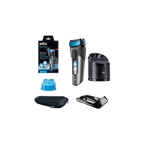 Braun Cooltec CT5CC Shaver For Men Grey & Blue