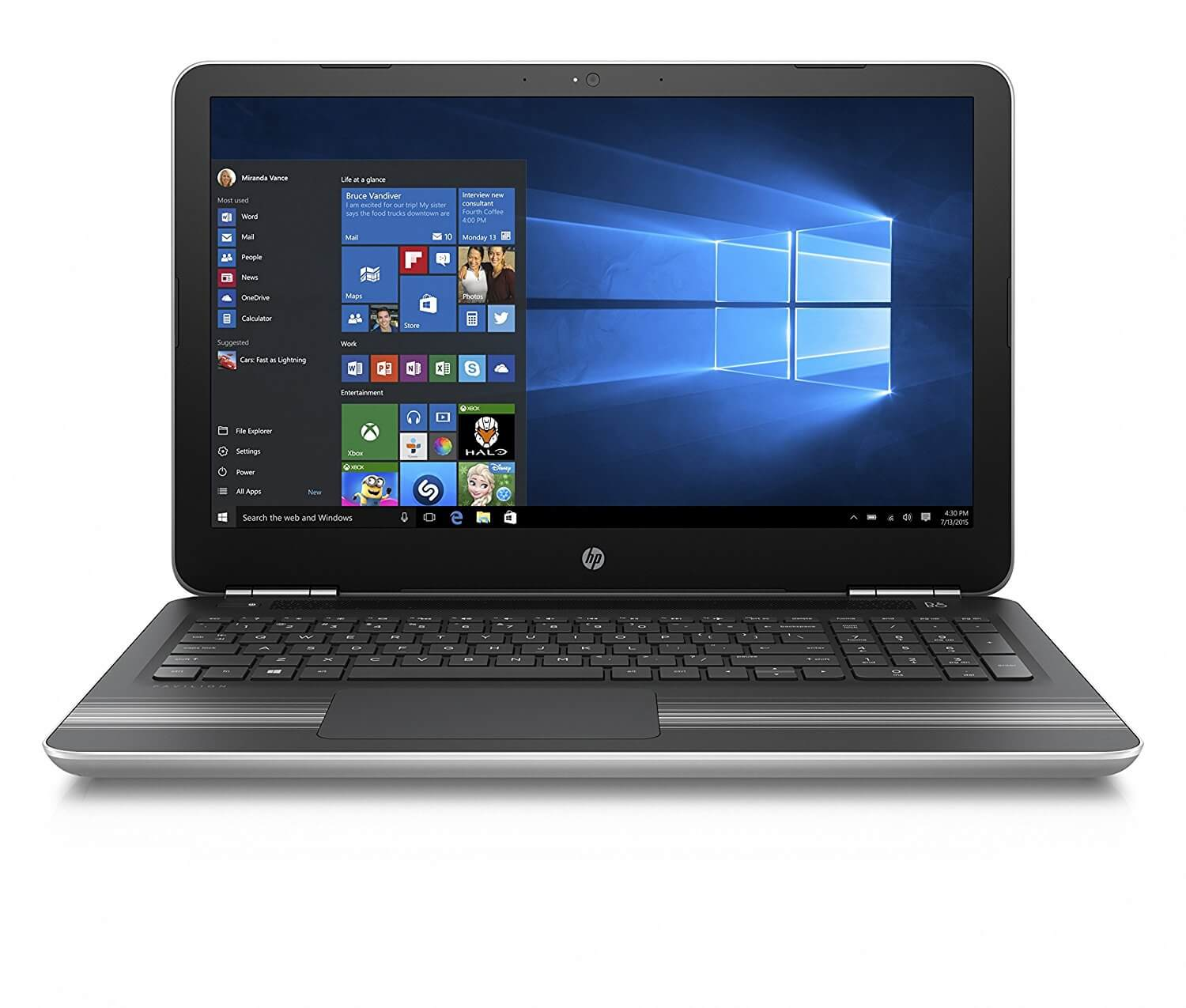 HP Pavilion 15-au620TX 15.6-inch (Core i5-7200U/8GB/1TB/Windows 10 Home/2GB Graphics),Natural Silver