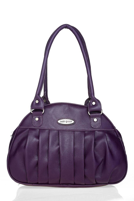 LADY QUEEN Purple Faux Leather Shoulder Bag LD - 380