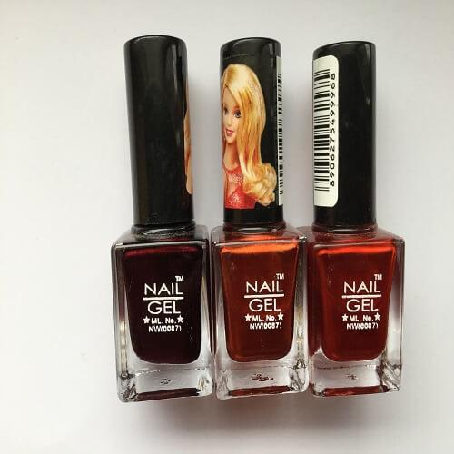 Nail Gel Nail Polish Combo,Multi Color,Pack of 3