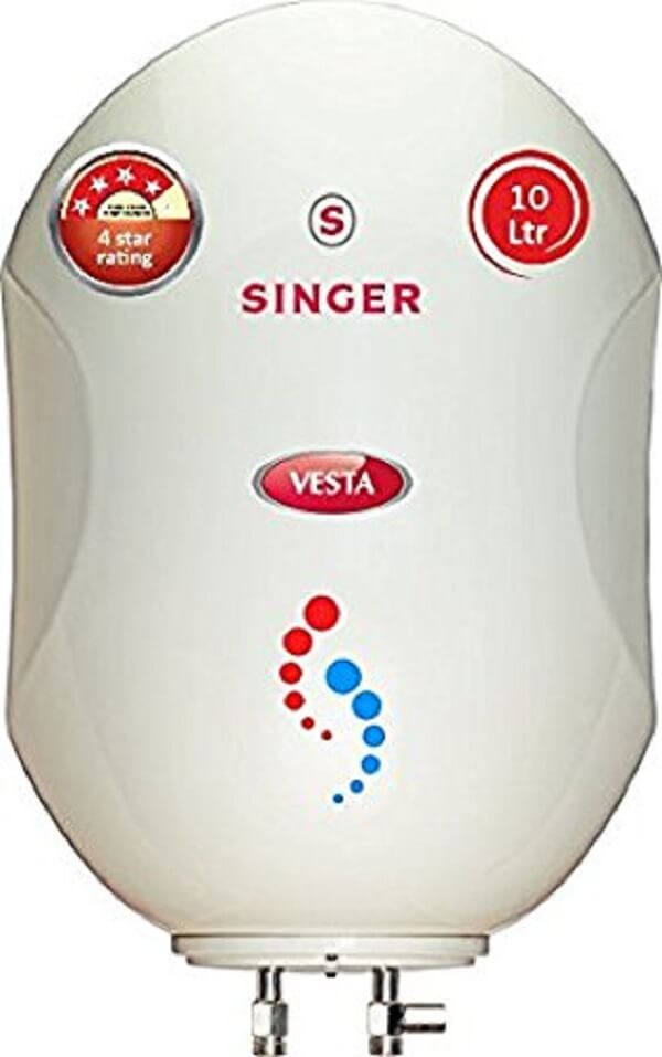 Singer Vesta 3000-Watt Storage Water Heater 10 Litre
