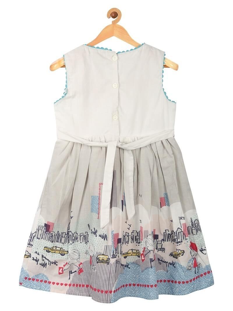 Cotton Western Printed Girls Dress (1.5-2yrs)