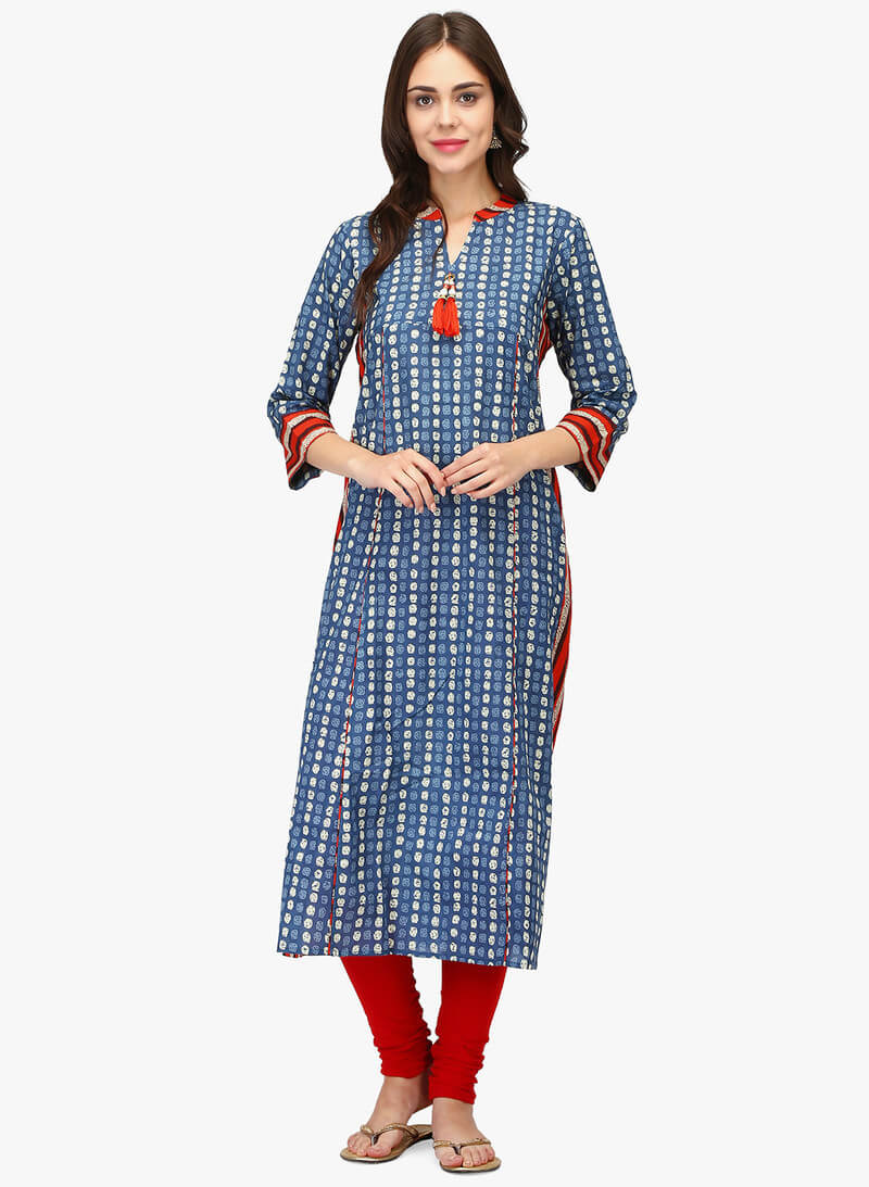Cotton Cambric Straight Printed Kurti