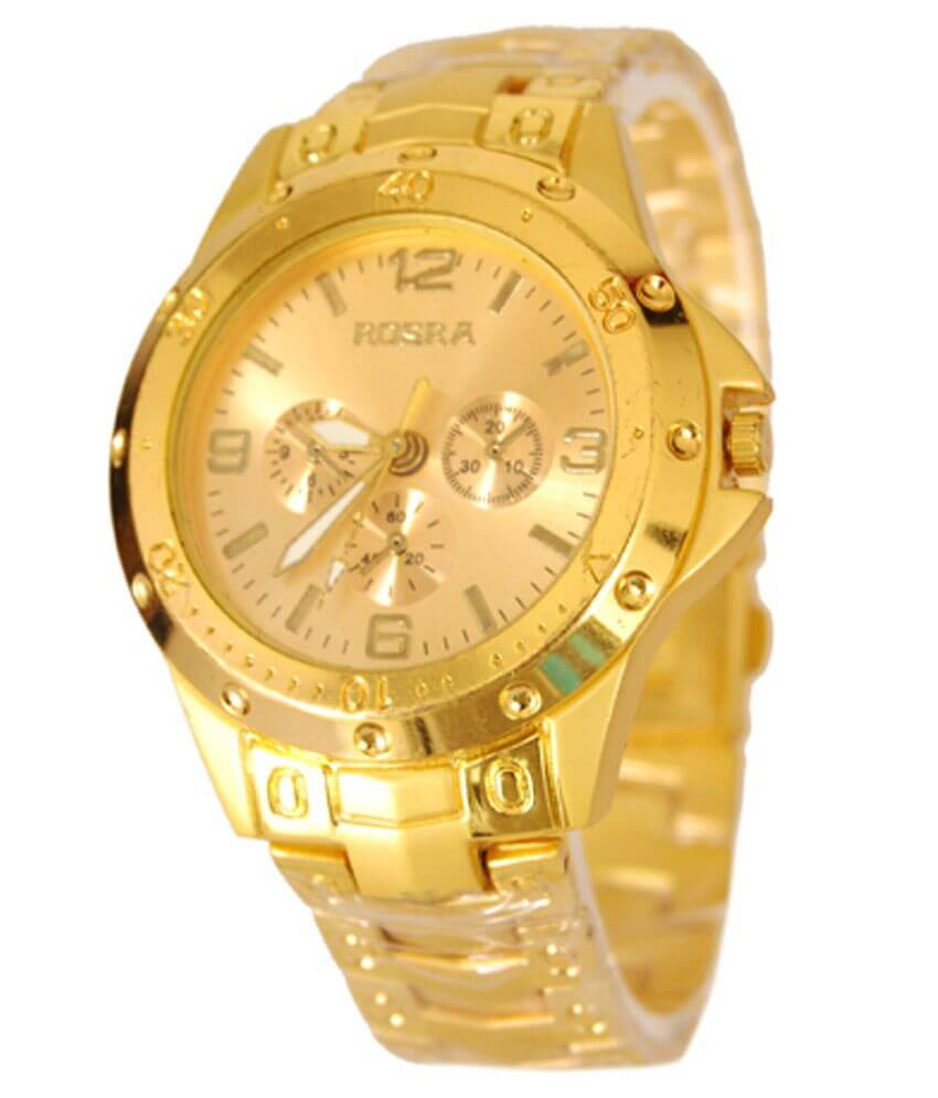 Rosra Golden Analog Watch