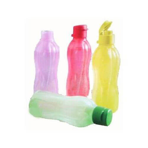 TUPPERWARE 500ml fliptop water bottles, set of 4, new multi colour