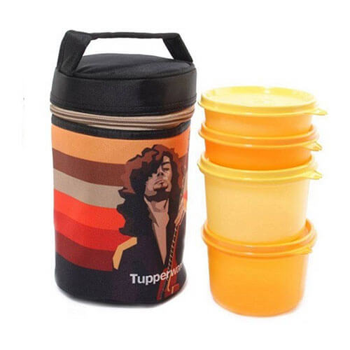 Tupperware Rocker Yellow 4 Containers Lunch Box  (1300 ml)
