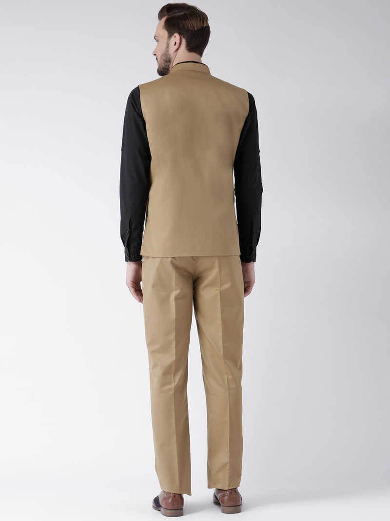 Blend Solid Regular Fit Basket With Trouser (38)