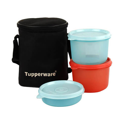 Tupperware 3001 3 Containers Lunch Box  (1080 ml)