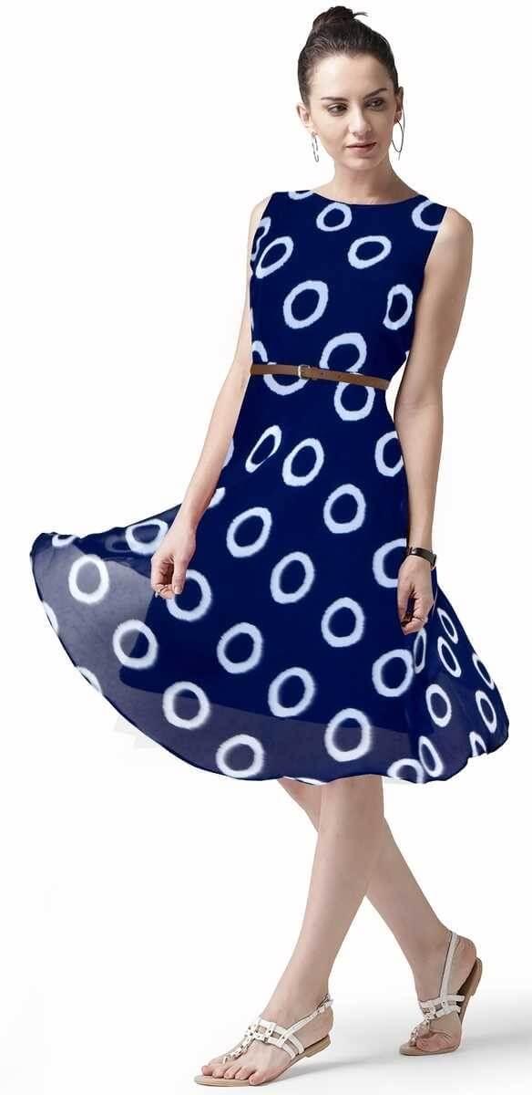Georgette Printed Dress (34)