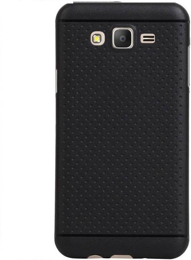 Nutricase Back Cover for SAMSUNG Galaxy J2 - 2016 (Black, Shock Proof, Rubber)