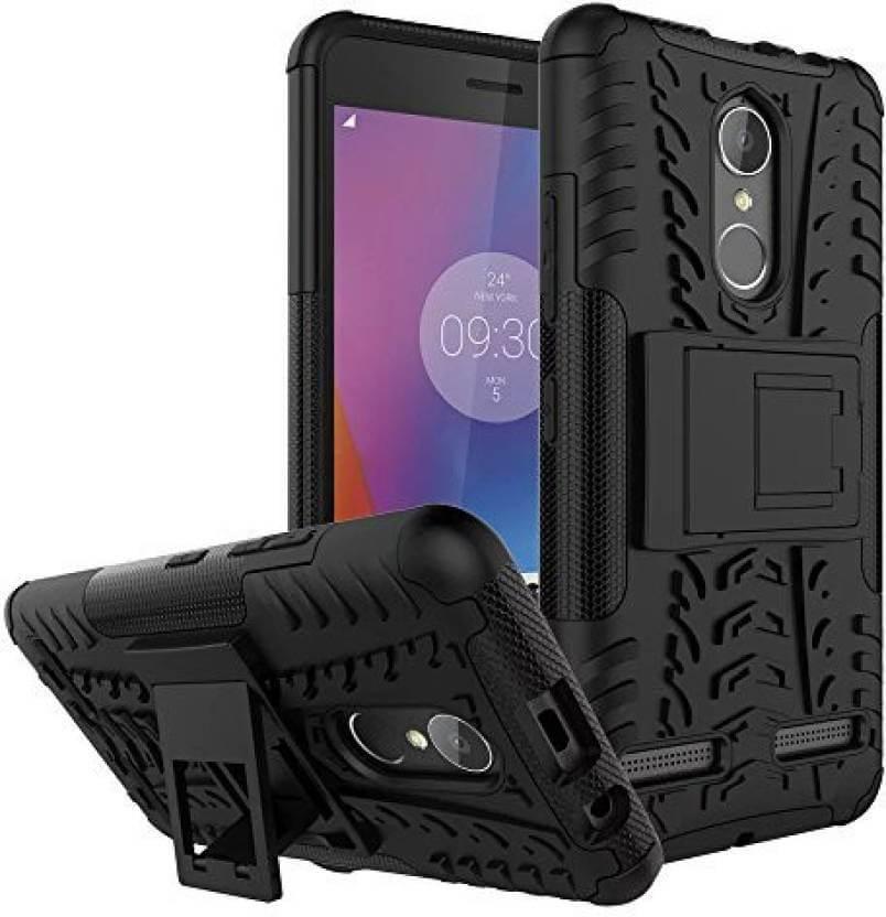 Nutricase Back Cover for Lenovo K6 Power (Black, Shock Proof, Rubber)