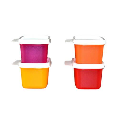 Tupperware Keep Tab Plastic Container Set, 160ml, Set of 4, Multicolour