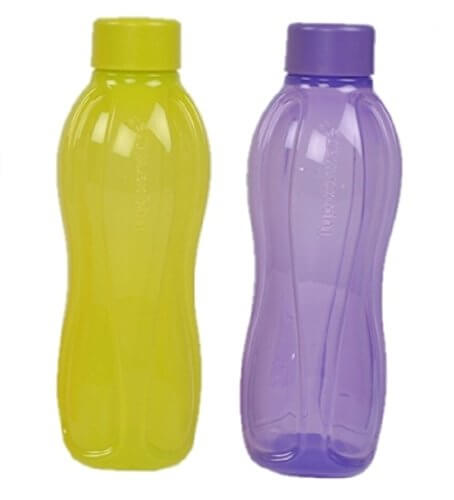 Tupperware FlipTop Aquasafe 1 L Water Bottles(Set of 2, Multicolor)