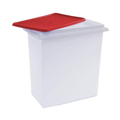 Tupperware - 10 L Plastic Multi-purpose Storage Container  Red