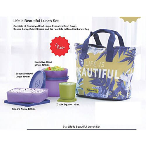 Tupperware Life is Beautiful Lunch Set