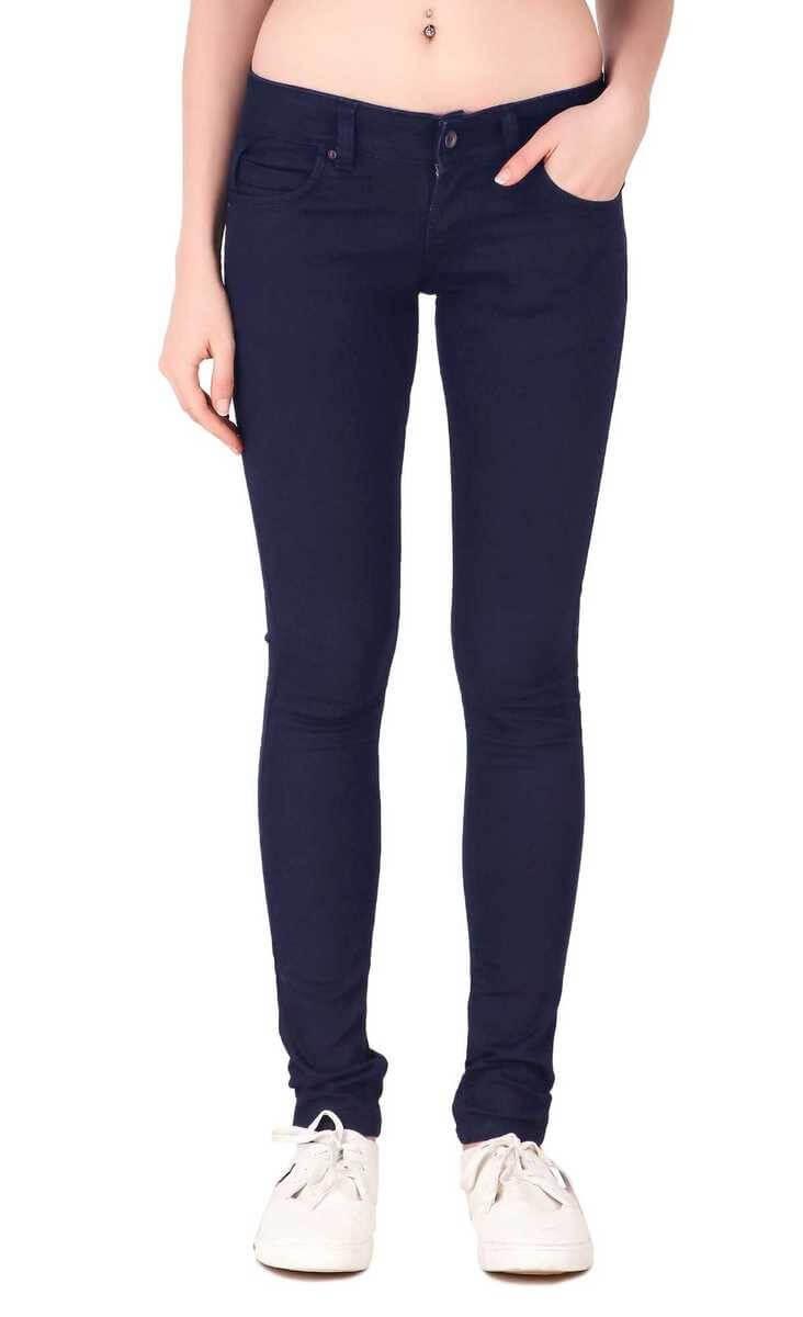 Fame16 Brand  Denim Plain Women jeans