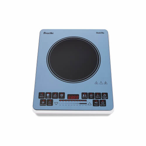 Preethi Indicook Induction Cooktop - Sleek Blu - 1900 watts