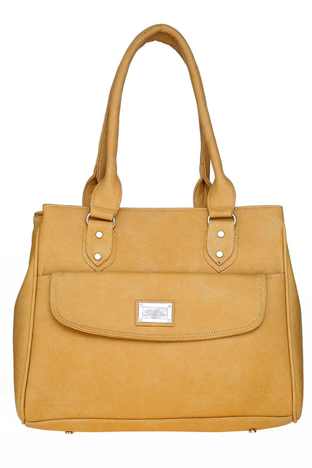 LADY QUEEN Beige Faux Leather Shoulder Bag LD - 391